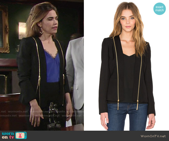 Rachel Zoe Hilary Blazer worn by Victoria Newman on The Young & the Restless
