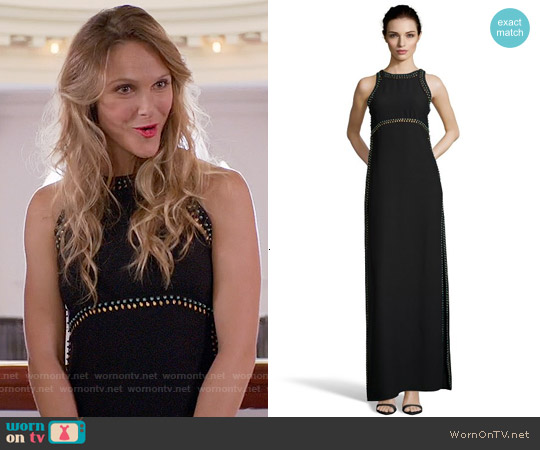 Rachel Zoe Jeannie Maxi Dress worn by Beau Garrett on GG2D