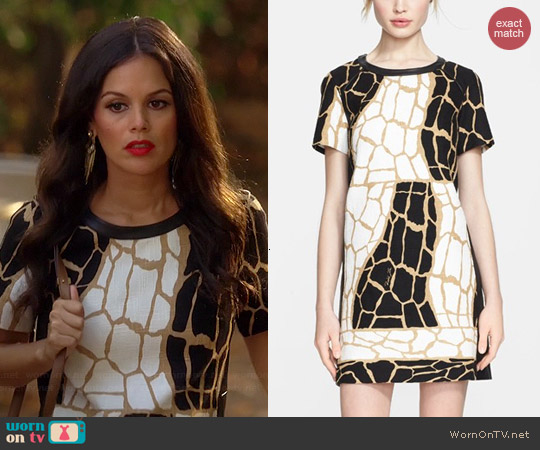 Rachel Zoe Landon Giraffe Print Dress worn by Rachel Bilson on Hart of Dixie
