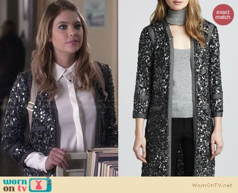 Rachel Zoe Paulie Sequin Jacket worn by Ashley Benson on PLL