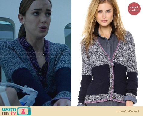 Rag & Bone Claire Cardigan worn by Elizabeth Henstridge on Agents of SHIELD