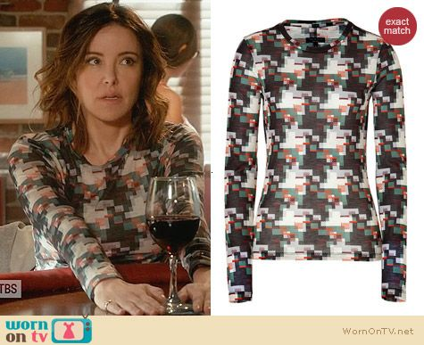 Rag & Bone Printed top worn by Ellie Torres on Cougar Town