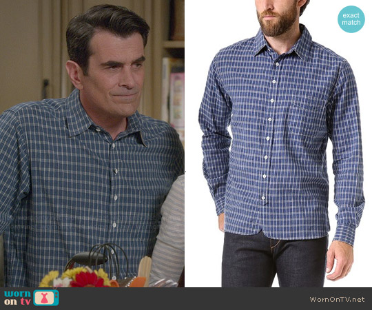 Rag & Bone 3/4 Placket Shirt worn by Ty Burrell on Modern Family
