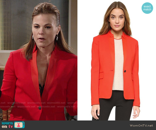 Rag & Bone Archer Blazer worn by Gina Tognoni on The Young & the Restless