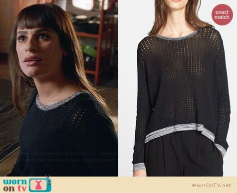 Rag & Bone Ariana Sweater worn by Lea Michele on Glee