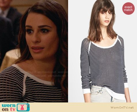 Rag & Bone Arianna Raglan Top worn by Lea Michele on Glee