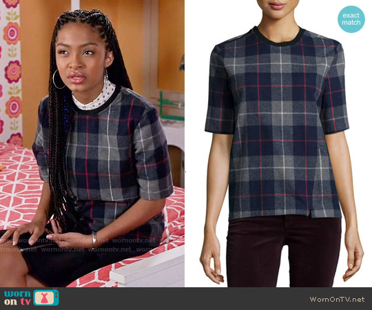 Rag & Bone Austin Plaid Top worn by Yara Shahidi on Blackish