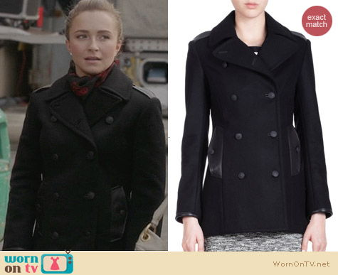 Rag & Bone Battle Peacoat in Black worn by Hayden Panettiere on Nashville