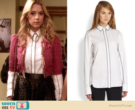 Rag & Bone Berry Shirt worn by Ashley Benson on PLL