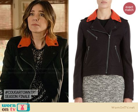 Rag & Bone Bowery Jacket worn by Christa Miller on Cougar Town