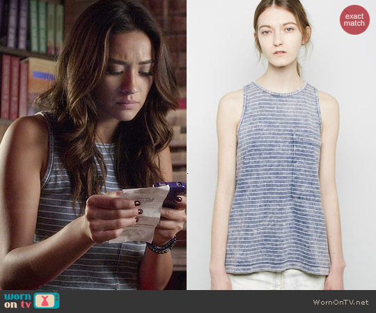 Rag & Bone Bowery Tank worn by Shay Mitchell on PLL