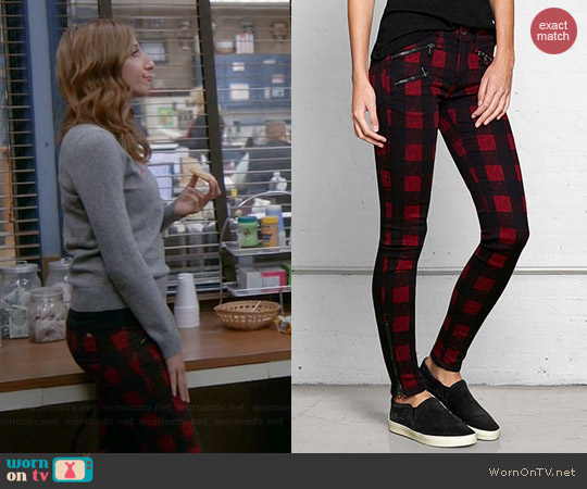 Rag & Bone Buffalo Plaid Pants worn by Chelsea Peretti on Brooklyn 99