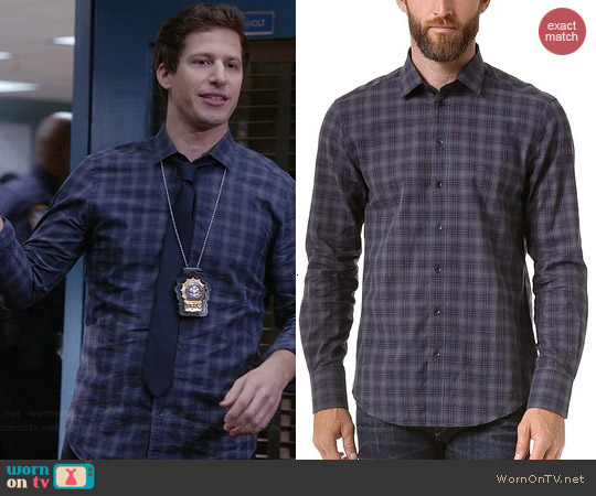 Rag & Bone Charles Plaid Shirt worn by Andy Samberg on Brooklyn 99