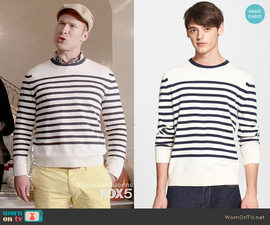 Rag & Bone Chase Sweater worn by Glen Powell on Scream Queens