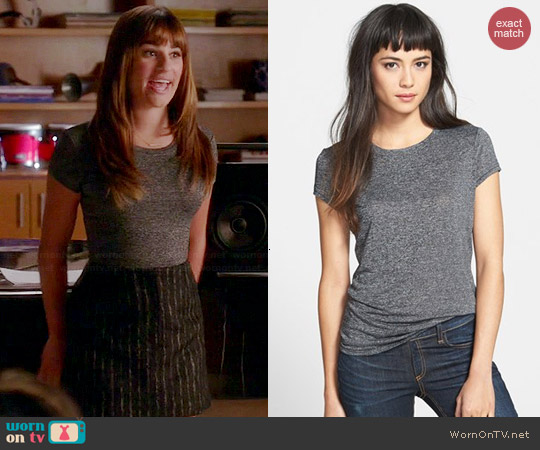Rag & Bone Classic Cotton Tee worn by Rachel Berry on Glee