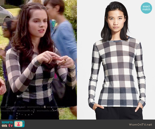 Rag & Bone The Classic Long Sleeve Tee worn by Vanessa Marano on Switched at Birth