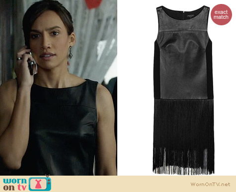 Rag & Bone Corina Fringe Dress worn by Nina Lisandrello on BATB