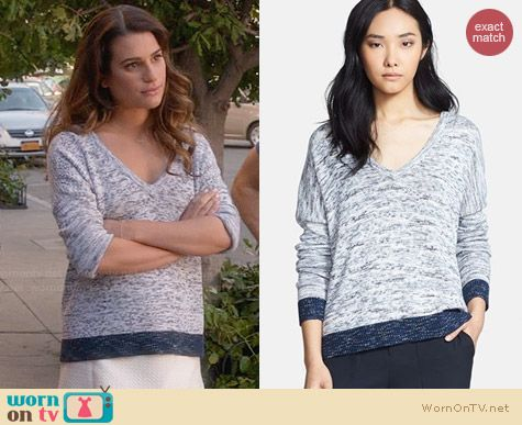 Rag & Bone Dionne Sweater worn by Lea Michele on Glee