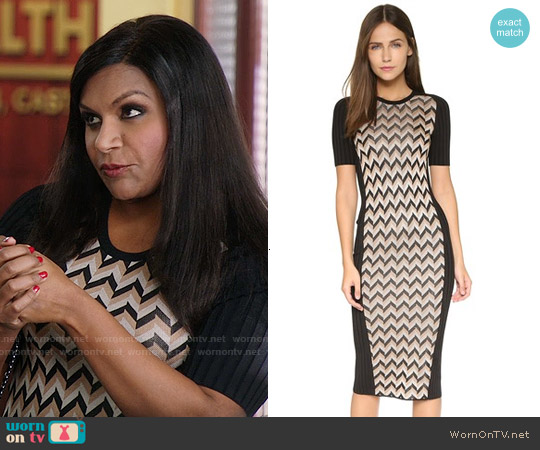 Rag & Bone Elaine Dress worn by Mindy Kaling on The Mindy Project