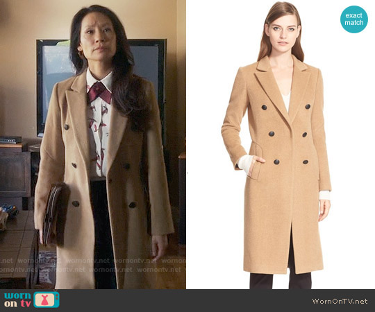 Rag & Bone Faye Coat worn by Lucy Liu on Elementary