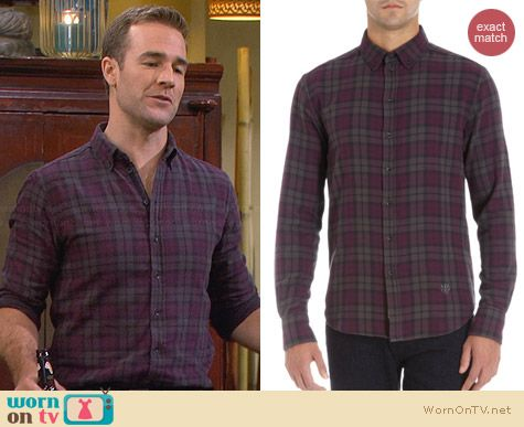 Rag & Bone Flannel Shirt worn by James van der Beek on FWBL