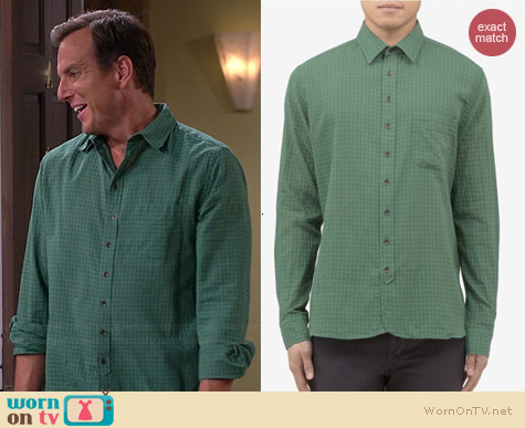 Rag & Bone 3/4 Placket Check Print Shirt worn by Will Arnett on The Millers