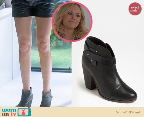 Rag & Bone Harrow Bootie in Black worn by Malin Akerman on Trophy Wife