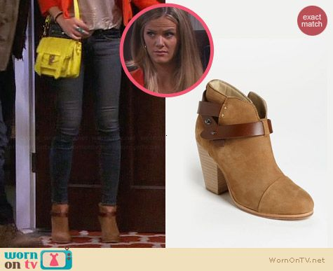 Rag & Bone Harrow Bootie worn by Brooklyn Decker on FWBL