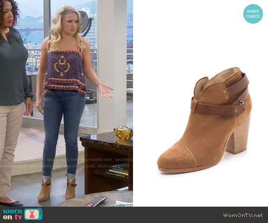 Rag & Bone Harrow Bootie worn by Gabi Diamond on Young & Hungry