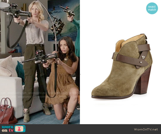 Rag & Bone Harrow Booties in Stonewall Green worn by Melissa Shart on Last Man On Earth