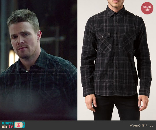 Rag & Bone Jack Shirt worn by Stephen Amell on Arrow