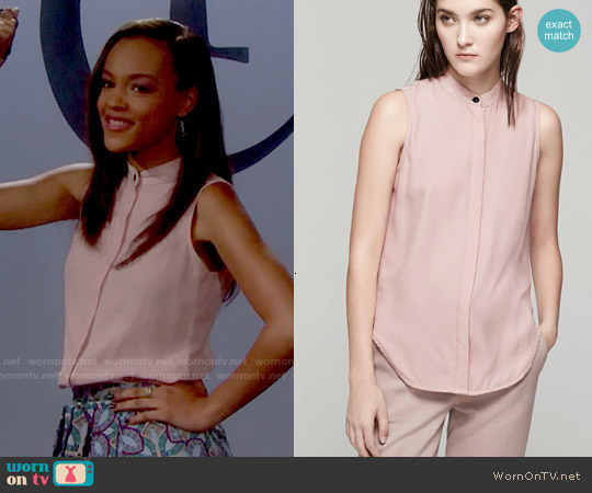 Rag & Bone Kent Shirt worn by Reign Edwards on The Bold & the Beautiful