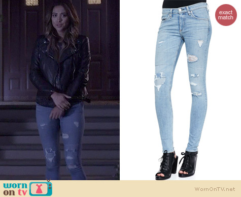 Rag & Bone La Costa Repair Jeans worn by Shay Mitchell on PLL
