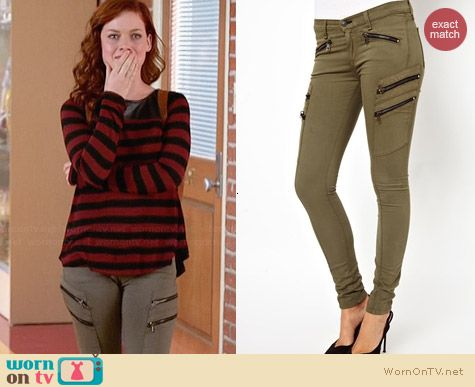 Rag & Bone Lariat Jeans worn by Jane Levy on Suburgatory