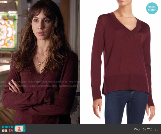 Rag & Bone Leanna Sweater worn by Troian Bellisario on PLL