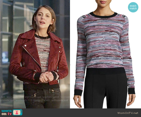 Rag & Bone Lola Pullover worn by Thea Queen on Arrow