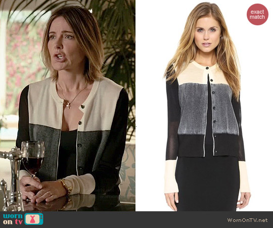 Rag & Bone Marissa Cardigan worn by Christa Miller on Cougar Town