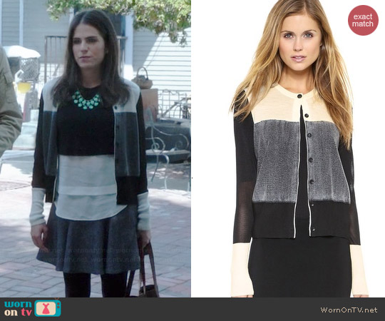 Rag & Bone Marissa Cardigan worn by Karla Souza on HTGAWM