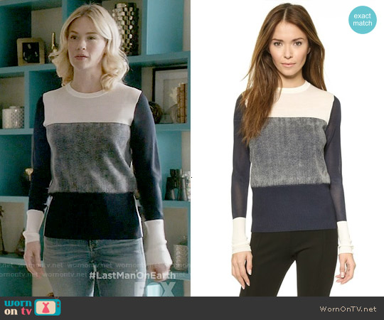 Rag & Bone Marissa Sweater worn by January Jones on Last Man On Earth