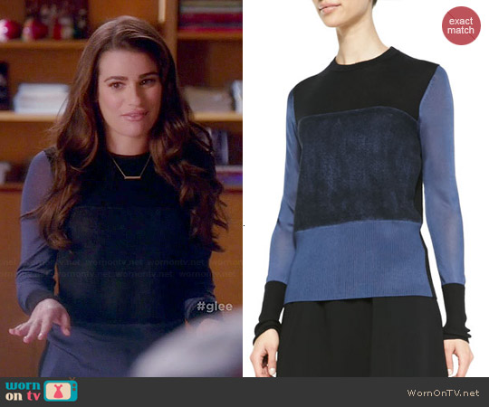 Rag & Bone Marissa Sweater in Pigment worn by Lea Michele on Glee