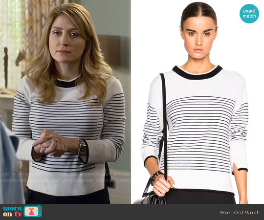 Rag & Bone Masie Striped Sweater worn by Sasha Alexander on Rizzoli & Isles