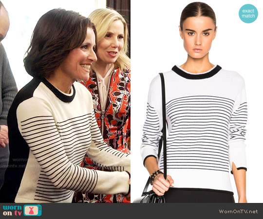Rag & Bone Masie Striped Sweater worn by Julia Louis-Dreyfus on Veep