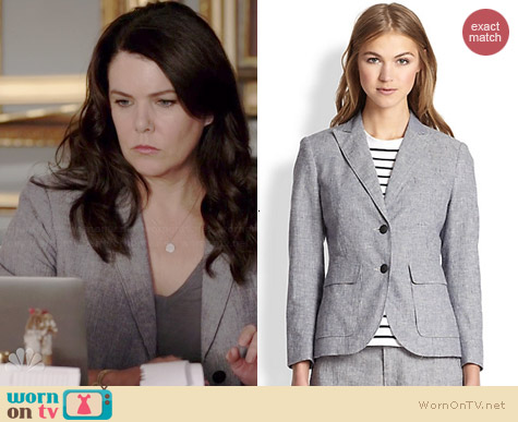 Rag & Bone Nancy Striped Blazer worn by Lauren Graham on Parenthood