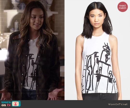 Rag & Bone Noah Tank worn by Shay Mitchell on PLL