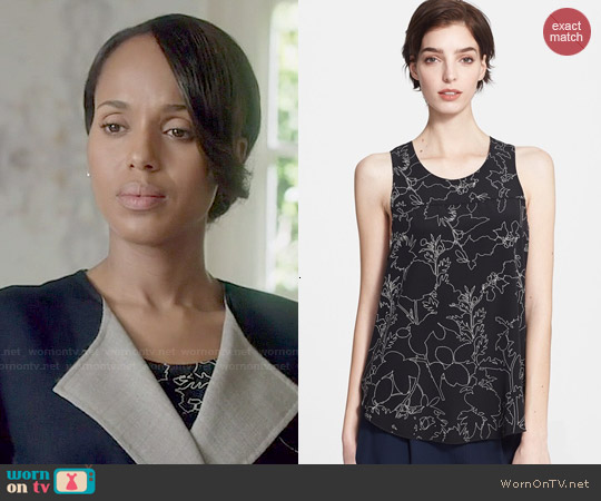 Rag & Bone Patricia Print Silk Top worn by Olivia Pope on Scandal