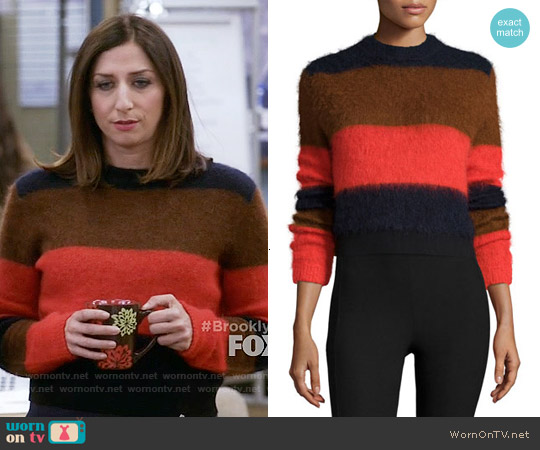 Rag & Bone Petra Striped Sweater worn by Chelsea Peretti on Brooklyn Nine-Nine