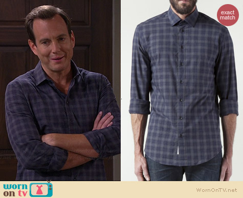 Rag & Bone Charles Plaid Shirt worn by Will Arnett on The Millers