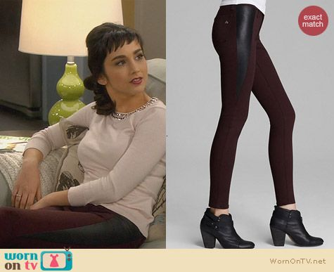 Rag & Bone Pop Leather Legging Worn by Molly Ephraim on Last Man Standing
