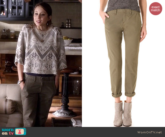 Rag & Bone Portabello Pants worn by Troian Bellisario on PLL