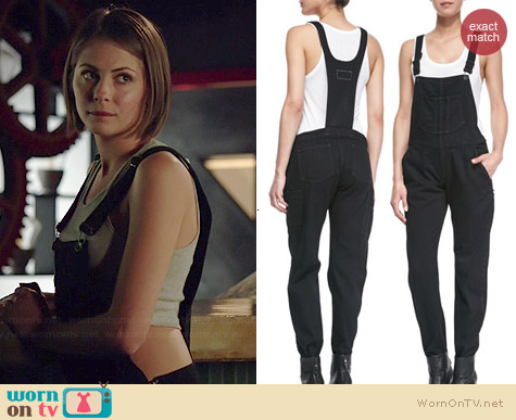 Rag & Bone Racerback Overalls worn by Willa Holland on Arrow